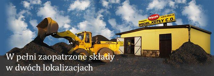 Skład Opału Więcek, Krzeszowice, Małopolska, polski węgiel, węgiel workowany, ekogroszek, retopal, drewno kominkowe